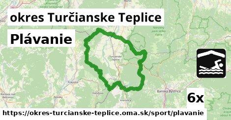 ilustračný obrázok k Plávanie, okres Turčianske Teplice
