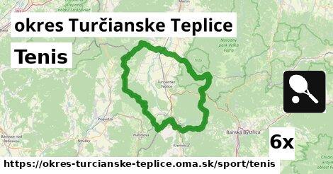 ilustračný obrázok k Tenis, okres Turčianske Teplice