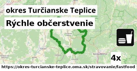 ilustračný obrázok k Rýchle občerstvenie, okres Turčianske Teplice