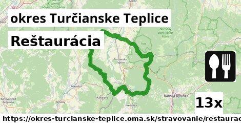 ilustračný obrázok k Reštaurácia, okres Turčianske Teplice