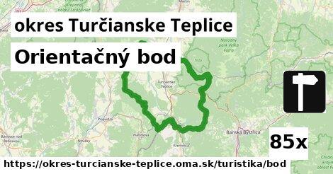 orientačný bod v okres Turčianske Teplice