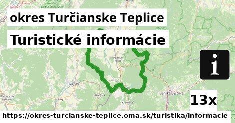 turistické informácie v okres Turčianske Teplice