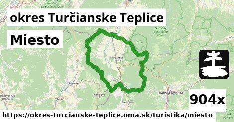 miesto v okres Turčianske Teplice