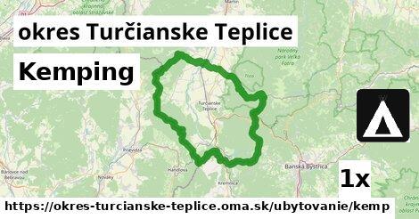 kemping v okres Turčianske Teplice