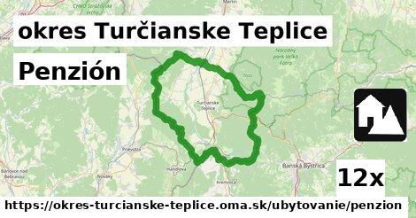 penzión v okres Turčianske Teplice