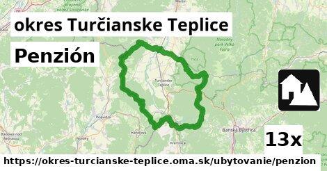 ilustračný obrázok k Penzión, okres Turčianske Teplice