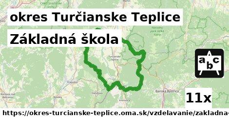 základná škola v okres Turčianske Teplice