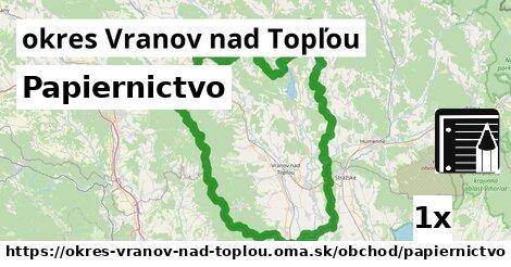 ilustračný obrázok k Papiernictvo, okres Vranov nad Topľou