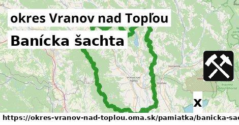 banícka šachta v okres Vranov nad Topľou