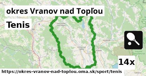 ilustračný obrázok k Tenis, okres Vranov nad Topľou