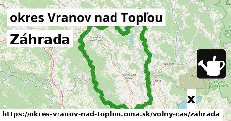 ilustračný obrázok k Záhrada, okres Vranov nad Topľou