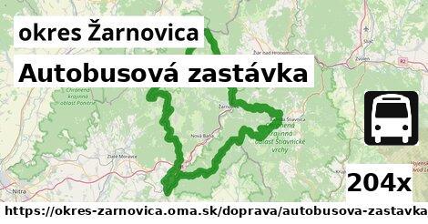 ilustračný obrázok k Autobusová zastávka, okres Žarnovica
