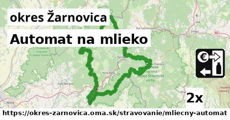 Automat na mlieko, okres Žarnovica