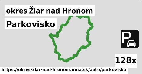 ilustračný obrázok k Parkovisko, okres Žiar nad Hronom
