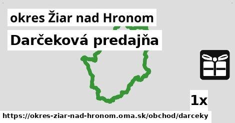 ilustračný obrázok k Darčeková predajňa, okres Žiar nad Hronom
