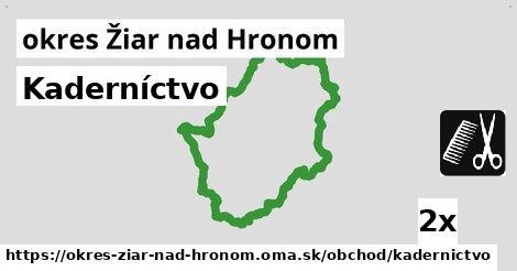 ilustračný obrázok k Kaderníctvo, okres Žiar nad Hronom