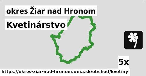 ilustračný obrázok k Kvetinárstvo, okres Žiar nad Hronom