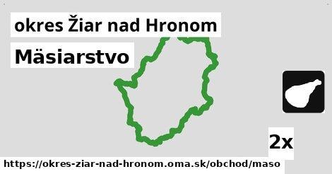 ilustračný obrázok k Mäsiarstvo, okres Žiar nad Hronom