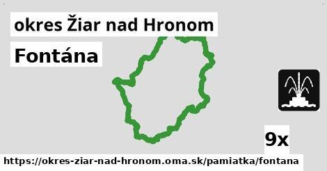 ilustračný obrázok k Fontána, okres Žiar nad Hronom