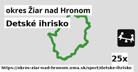 ilustračný obrázok k Detské ihrisko, okres Žiar nad Hronom