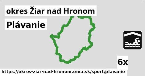 ilustračný obrázok k Plávanie, okres Žiar nad Hronom