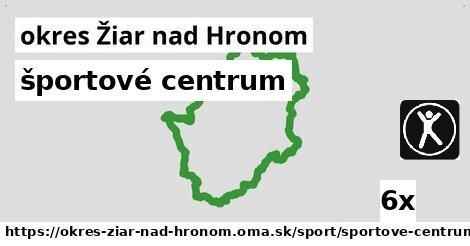 ilustračný obrázok k športové centrum, okres Žiar nad Hronom