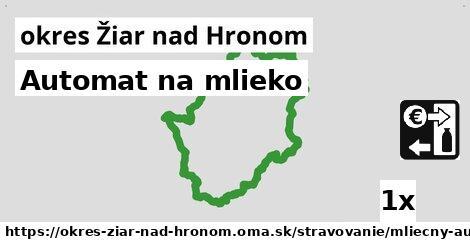 ilustračný obrázok k Automat na mlieko, okres Žiar nad Hronom