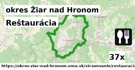 ilustračný obrázok k Reštaurácia, okres Žiar nad Hronom