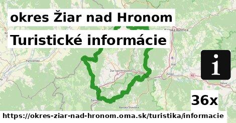 ilustračný obrázok k Turistické informácie, okres Žiar nad Hronom