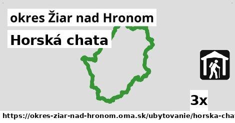 ilustračný obrázok k Horská chata, okres Žiar nad Hronom