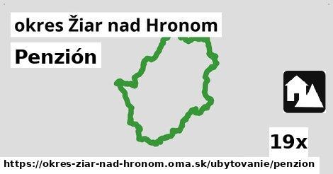 ilustračný obrázok k Penzión, okres Žiar nad Hronom