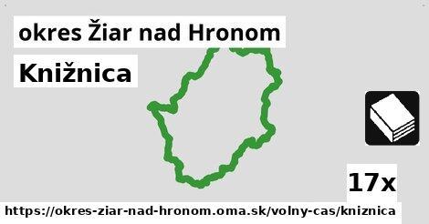 ilustračný obrázok k Knižnica, okres Žiar nad Hronom