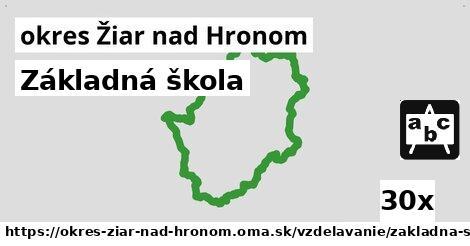 ilustračný obrázok k Základná škola, okres Žiar nad Hronom