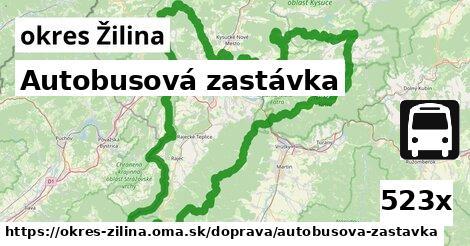 autobusová zastávka v okres Žilina