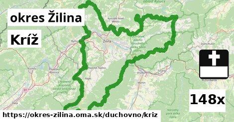 kríž v okres Žilina