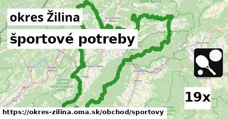 ilustračný obrázok k športové potreby, okres Žilina