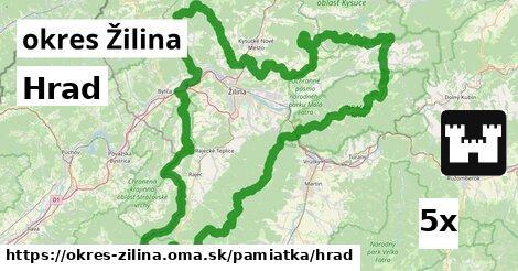 ilustračný obrázok k Hrad, okres Žilina