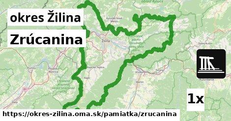 ilustračný obrázok k Zrúcanina, okres Žilina