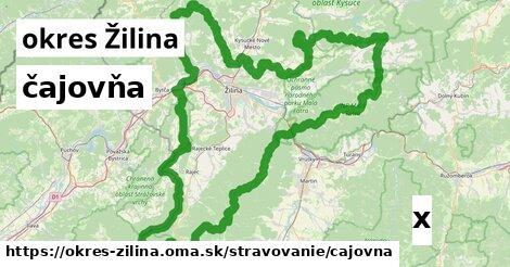 ilustračný obrázok k čajovňa, okres Žilina