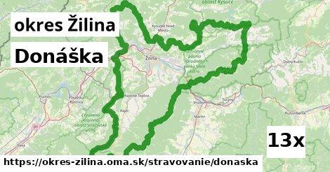 donáška v okres Žilina