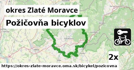 Požičovňa bicyklov, okres Zlaté Moravce
