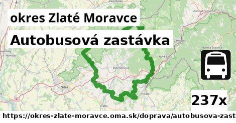 Autobusová zastávka, okres Zlaté Moravce
