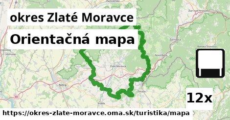 orientačná mapa v okres Zlaté Moravce