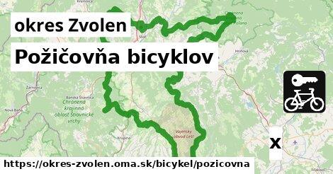 Požičovňa bicyklov, okres Zvolen