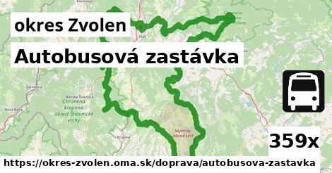ilustračný obrázok k Autobusová zastávka, okres Zvolen
