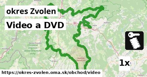 Video a DVD, okres Zvolen
