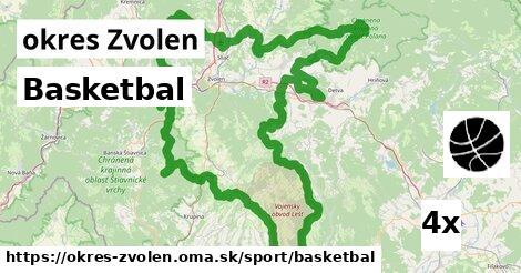 Basketbal, okres Zvolen