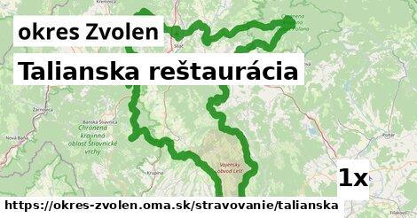 ilustračný obrázok k Talianska reštaurácia, okres Zvolen