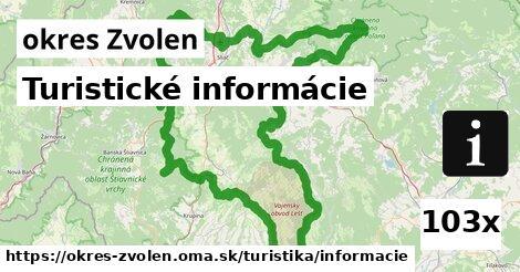 ilustračný obrázok k Turistické informácie, okres Zvolen