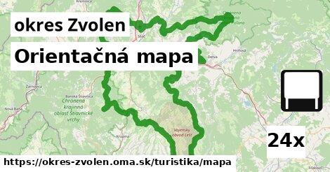 orientačná mapa v okres Zvolen